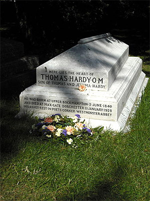 Grave of Thomas Hardy's heart at Stinsford parish church