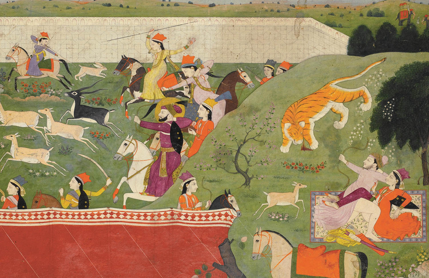 Hunting in the Punjab Hills, India, c.1790.