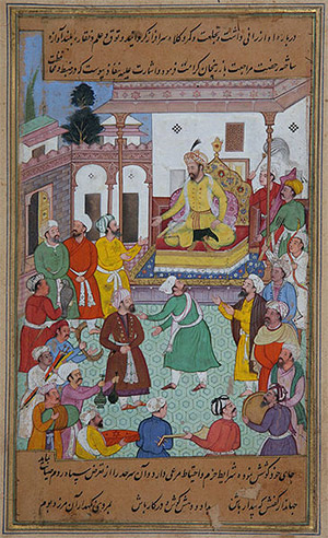 Timur giving orders to the General Assembly for a campaign against Georgia, 1595 - 1600