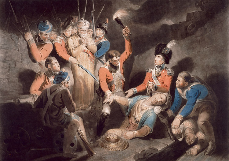 'Finding the body of Tipu', by Samuel William Reynolds, 1800.