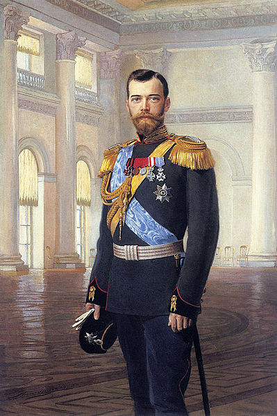 Nicholas II of Russia, circa 1900. Painting by Earnest Lipgart (1847-1932)