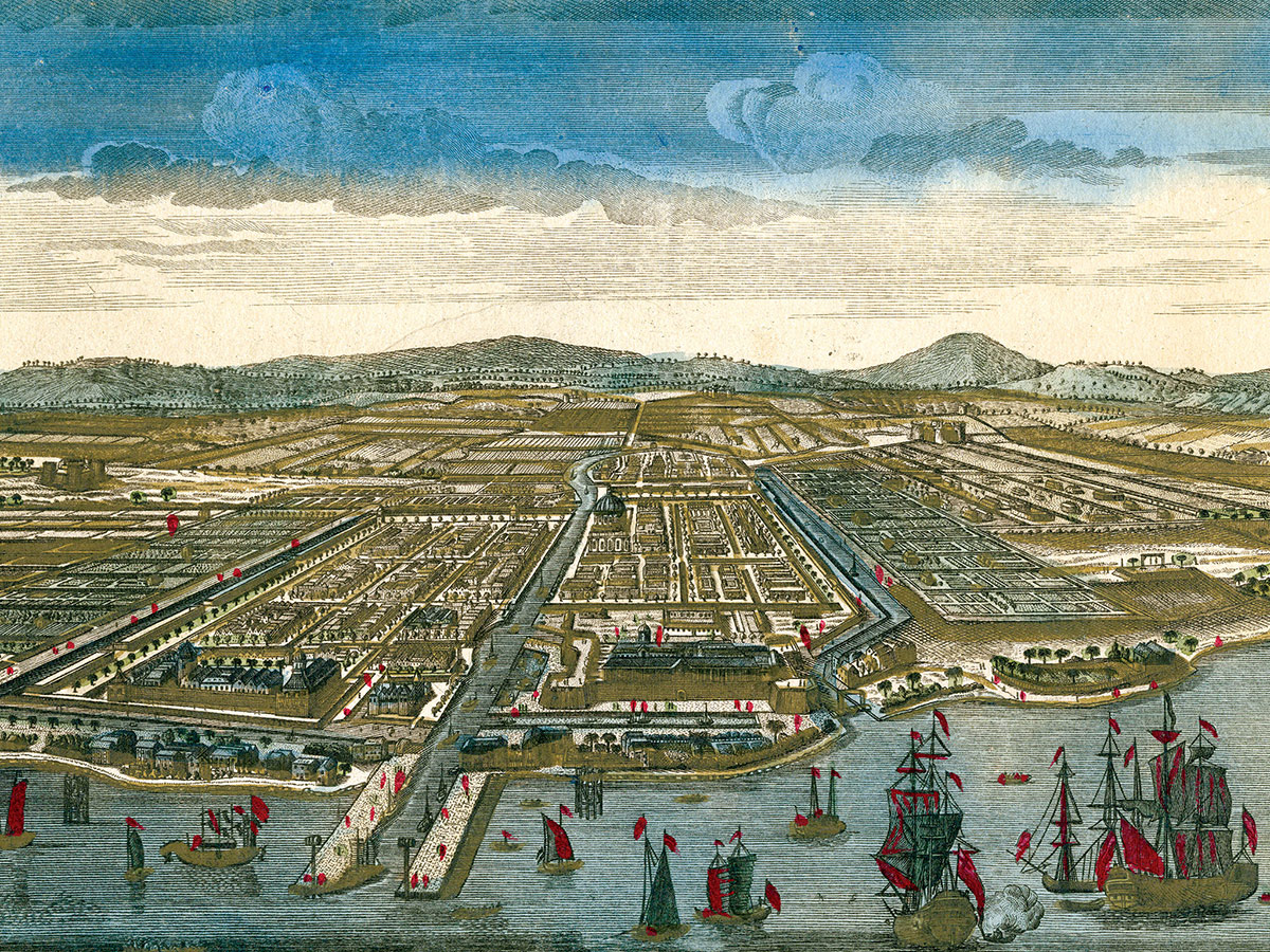 Batavia, capital of the Dutch East Indies (today Jakarta, Indonesia), 18th century.