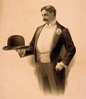 Man wearing a tuxedo, c.1896 (Library of Congress)
