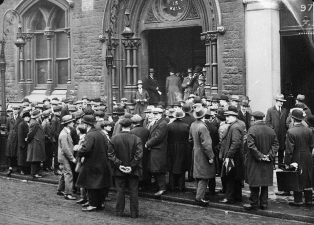 Unemployed men in Scotland, 1930