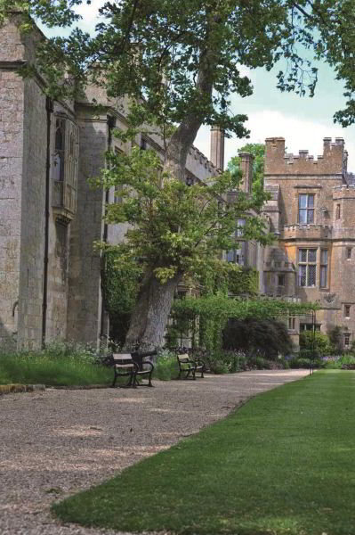 Sudeley Castle, Gloucestershire. The bay window on the left is the nursery where Lady Mary spent her earliest days. (English Rose Photography)