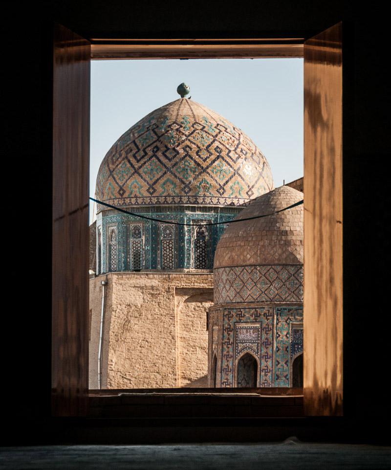 The 14th-century tomb of Shirin Biqa Aqa, Samarkand, 2014.