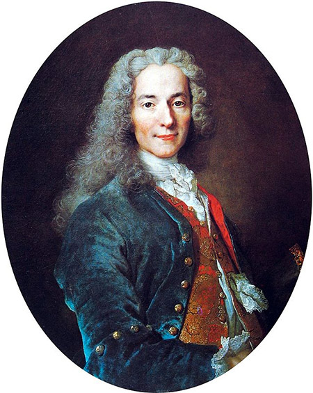 Portrait of Voltaire by Nicolas de Largillière