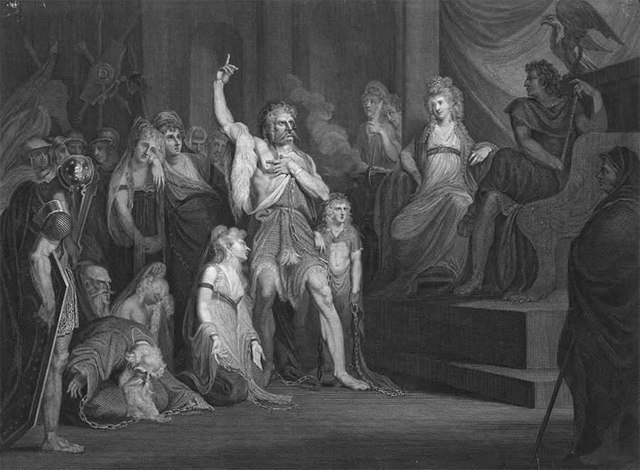 Caratacus at the Tribunal of Claudius at Rome, after Henry Fuseli, 1792.