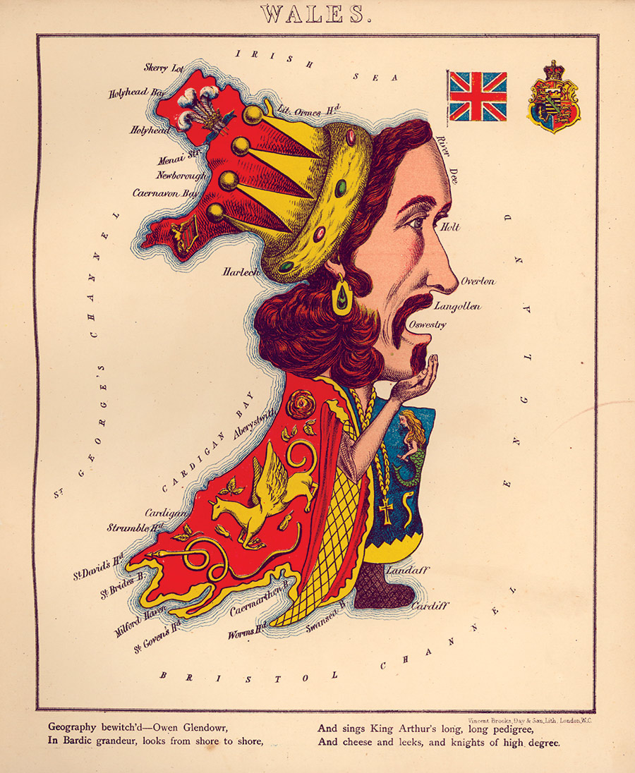 Wales in the form of Owain Glyndŵr, William Harvey, 1868.