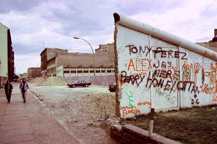 The Berlin Wall, 1990.