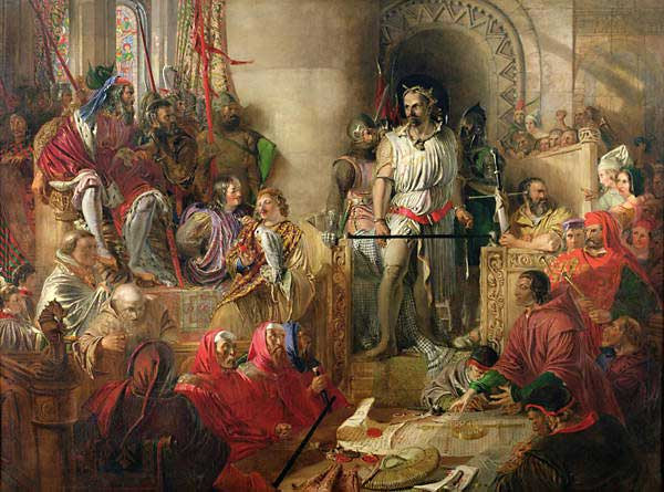The Trial of William Wallace at Westminster, by Daniel Maclise