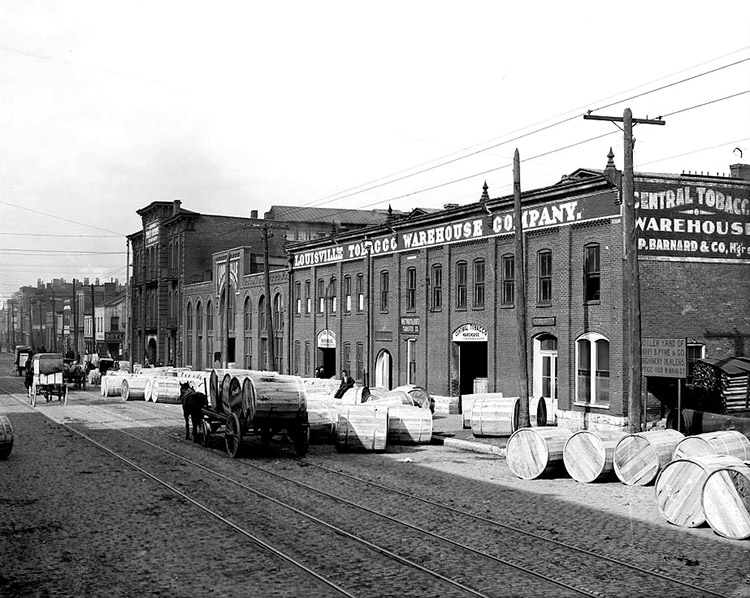 Tobacco warehouse in Louisville, Kentucky, 1906.