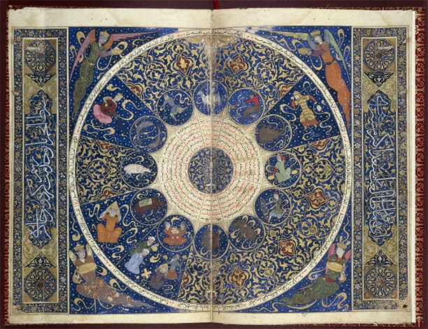 Horoscope of Prince Iskandar, grandson of Tamerlane, the Turkman Mongol conqueror. This horoscope shows the positions of the heavens at the moment of Iskandar's birth on 25th April 1384.