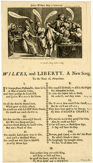 Song of freedom: a broadside in support of Wilkes, published in 1763