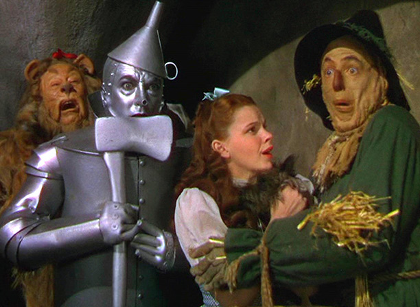 Blown away: a scene from The Wizard of Oz
