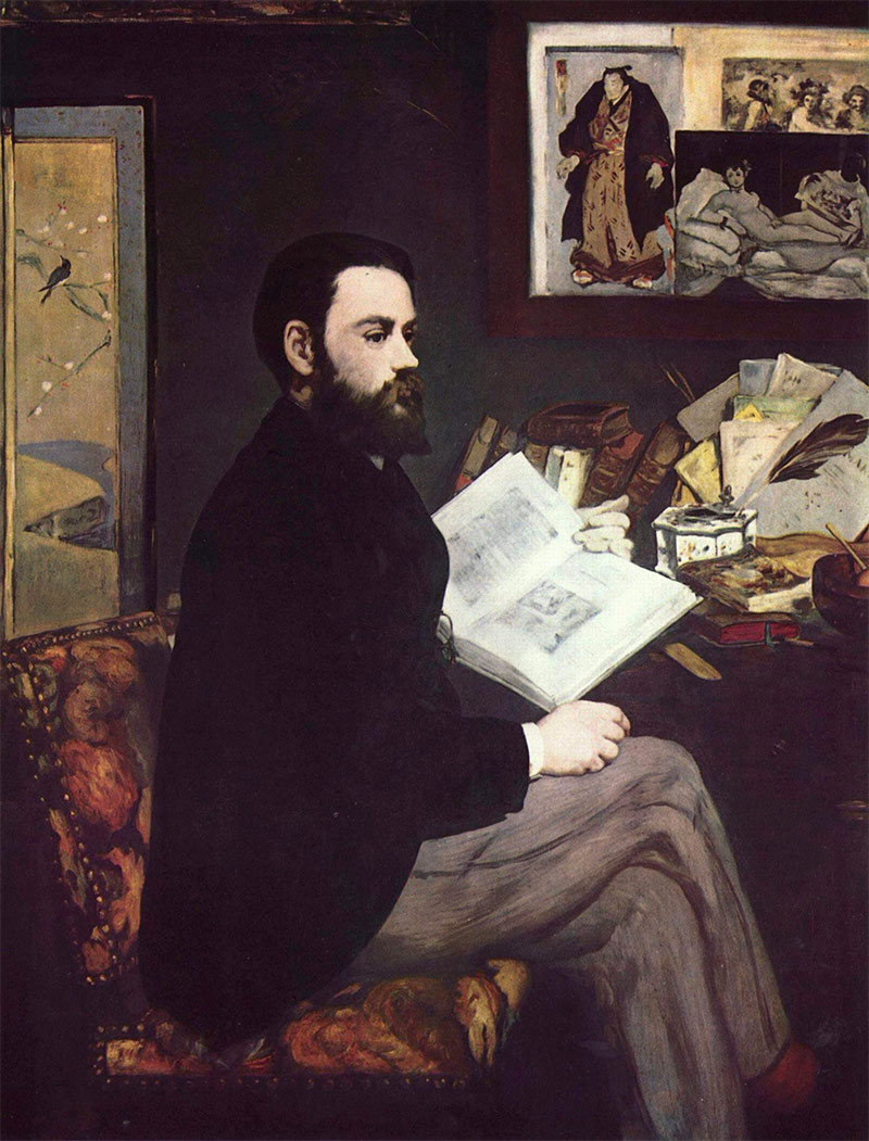 Portrait of Émile Zola by Édouard Manet.